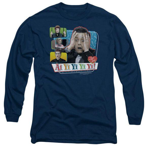 I Love Lucy Ai Yi Yi Yi Yi Long Sleeve Adult T-Shirt