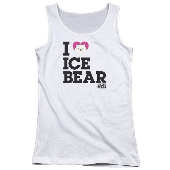 We Bare Bears Heart Ice Bear Juniors Tank Top