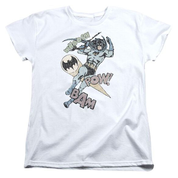 Batman Halftone Swing Short Sleeve Womens Tee T-Shirt