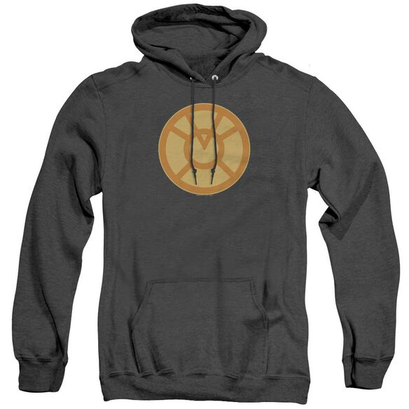 Green Lantern Orange Symbol - Adult Heather Hoodie - Black