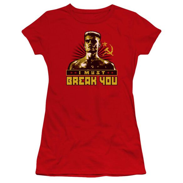 Rocky Iv I Must Break You Premium Bella Junior Sheer Jersey
