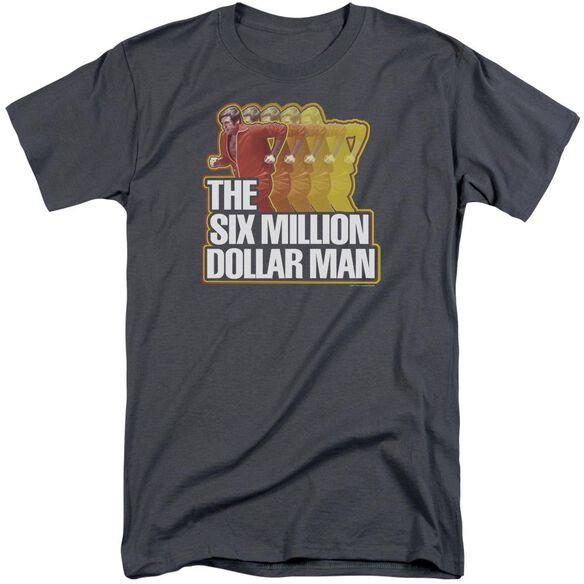 Six Million Dollar Man Run Fast Short Sleeve Adult Tall T-Shirt