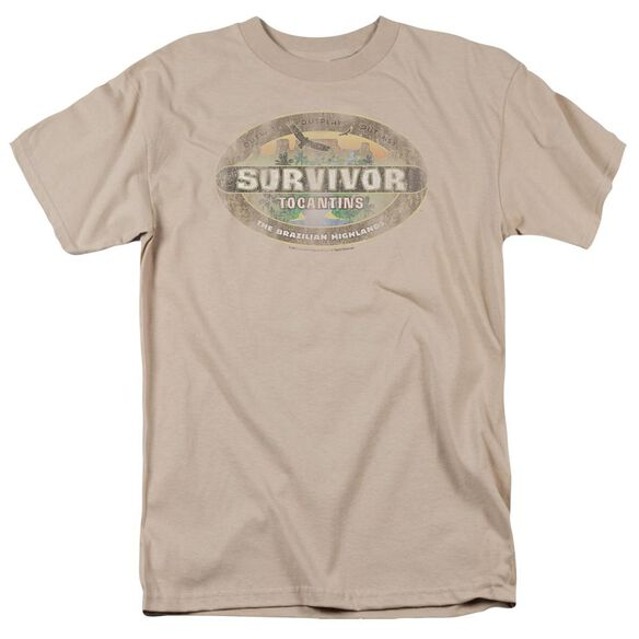 Survivor Tocantins Distressed Short Sleeve Adult Sand T-Shirt