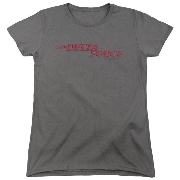 Delta Force Distressed Logo Short Sleeve Womens Tee T-Shirt