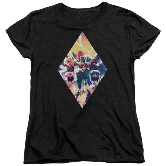 Power Rangers Sdcc Ranger Diamond 1 Short Sleeve Womens Tee T-Shirt
