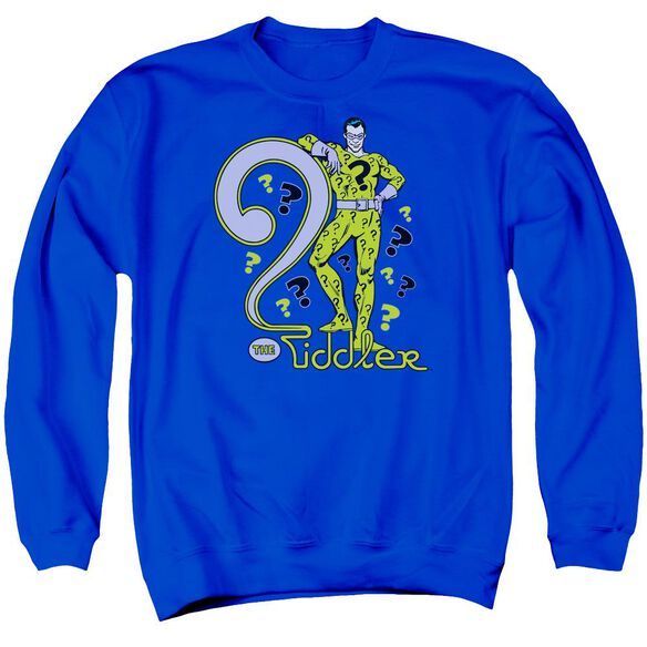 Dc The Riddler Adult Crewneck Sweatshirt Royal