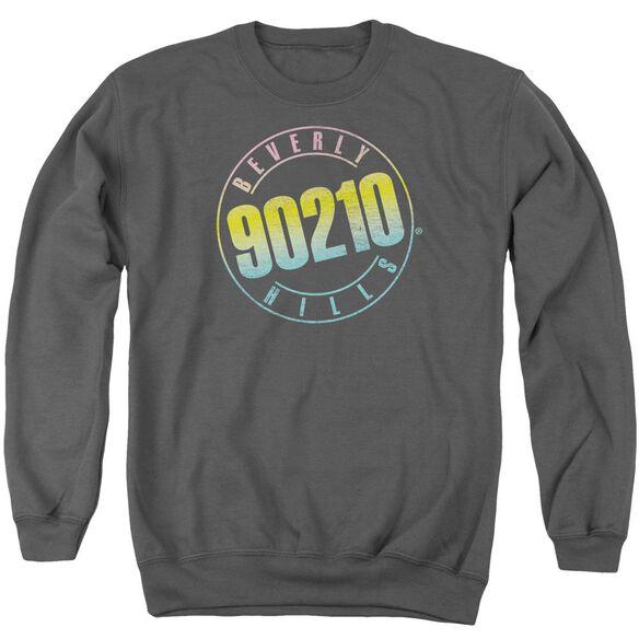 90210 Color Blend Logo Adult Crewneck Sweatshirt
