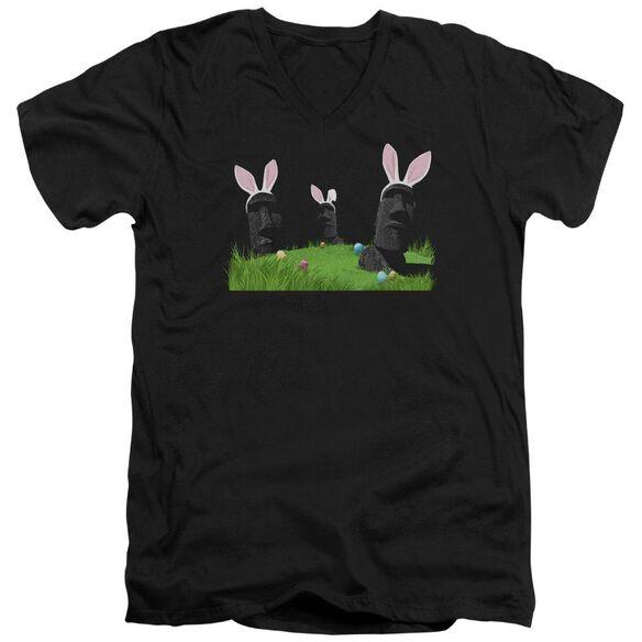 Easter Island Short Sleeve Adult V Neck T-Shirt