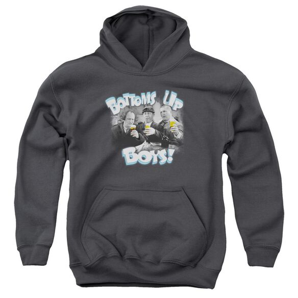 Three Stooges Bottoms Up Youth Pull Over Hoodie