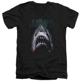 JAWS TERROR IN THE DEEP - S/S ADULT V-NECK - BLACK T-Shirt