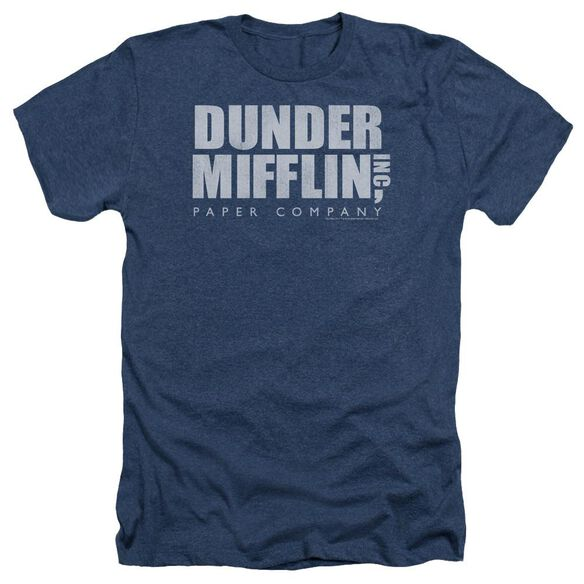 The Office Dunder Mifflin Distressed Adult Heather