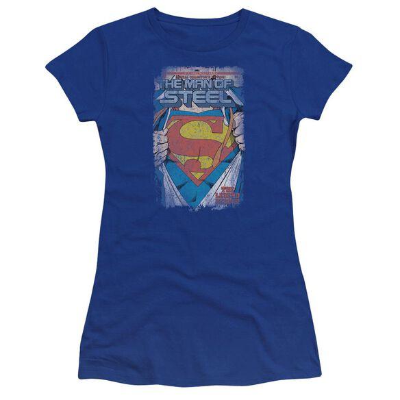 Superman Legendary Premium Bella Junior Sheer Jersey Royal
