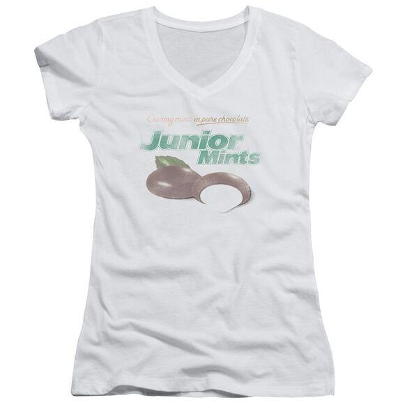 Tootsie Roll Junior Mints Logo Junior V Neck T-Shirt