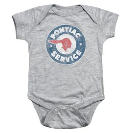 Pontiac Vintage Pontiac Service Infant Snapsuit Athletic Heather