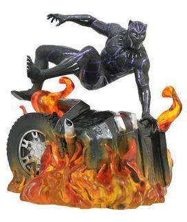 Diamond Select Toys: Black Panther Marvel Movie Gallery PVC Statue Black Panther Version 2