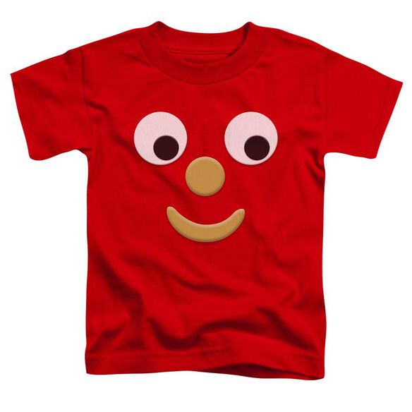 Gumby Blockhead J Short Sleeve Toddler Tee Red T-Shirt