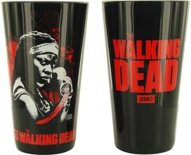 Walking Dead Characters Black Pint Glass Set