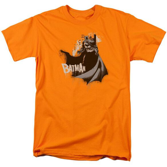 Batman The Drip Knight Short Sleeve Adult Orange T-Shirt