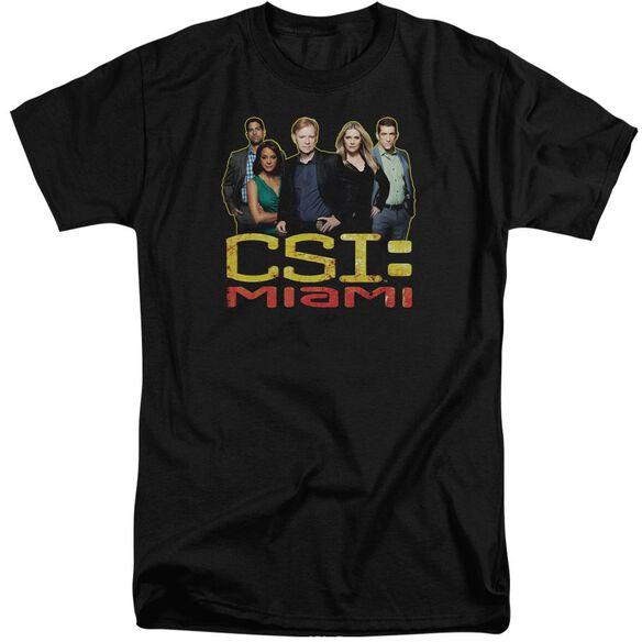 Csi Miami The Cast In Short Sleeve Adult Tall T-Shirt