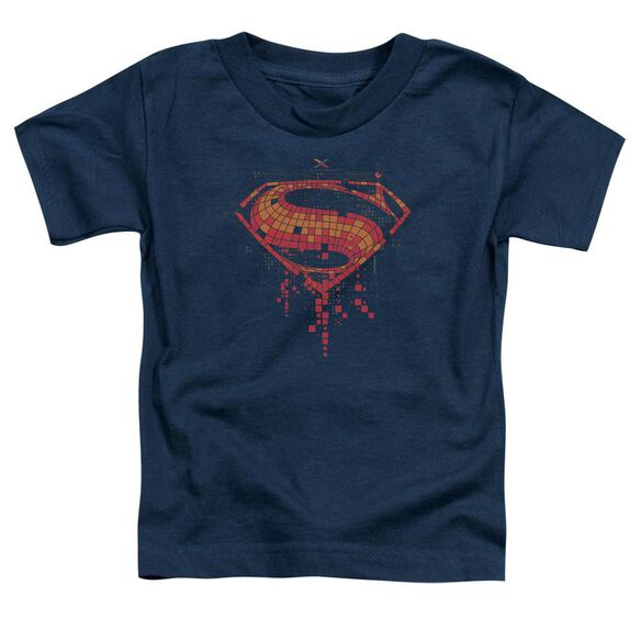 Batman V Superman Tech Super Logo Short Sleeve Toddler Tee Navy T-Shirt