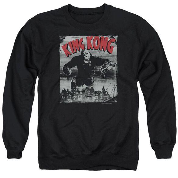 King Kong City Poster Adult Crewneck Sweatshirt