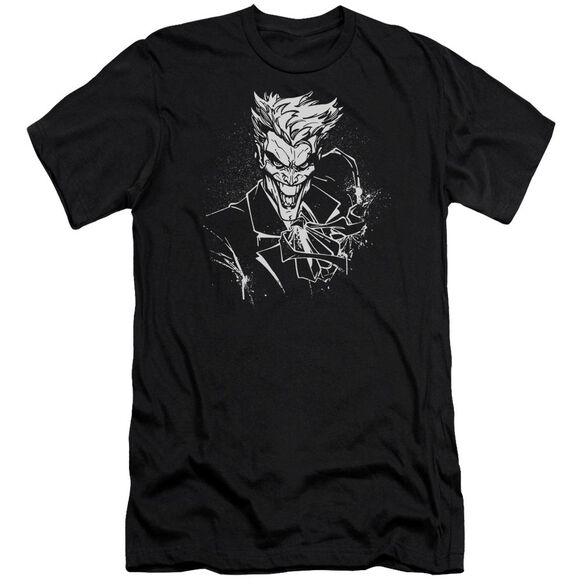 Batman Joker's Splatter Smile Short Sleeve Adult T-Shirt