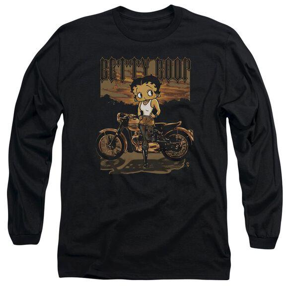 Betty Boop Rebel Rider Long Sleeve Adult T-Shirt
