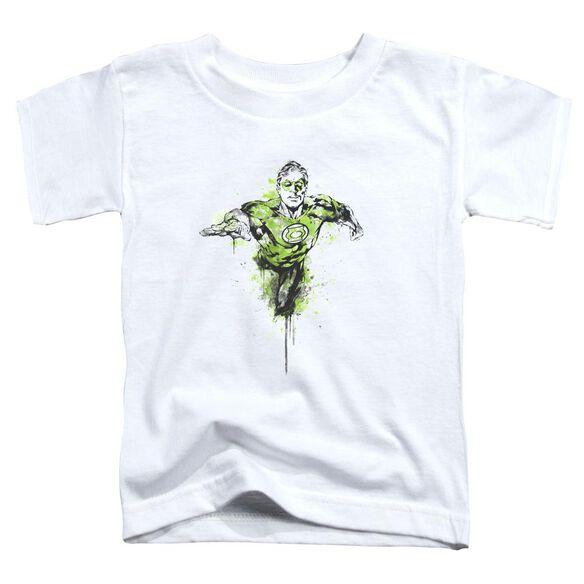 Green Lantern Inked Short Sleeve Toddler Tee White Sm T-Shirt