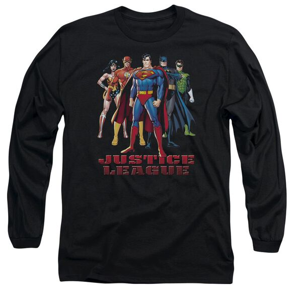 Jla In League Long Sleeve Adult T-Shirt