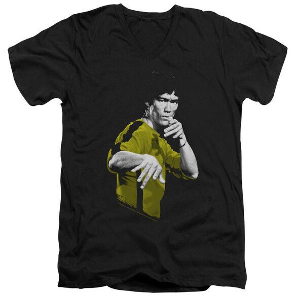 Bruce Lee Suit Of Death Short Sleeve Adult V Neck T-Shirt