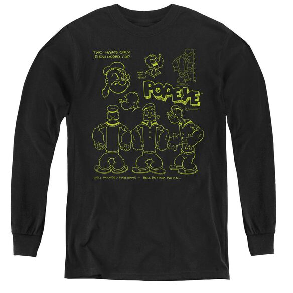 Popeye We Can Rebuild Him - Youth Long Sleeve Tee