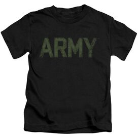 Army Type Short Sleeve Juvenile Black T-Shirt
