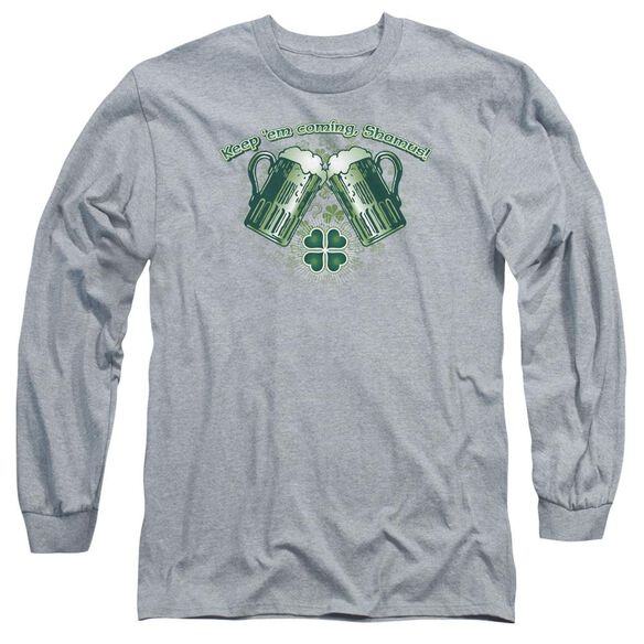 Green Beer Long Sleeve Adult Athletic T-Shirt