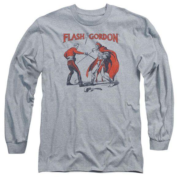 Flash Gordon Duel Long Sleeve Adult Athletic T-Shirt