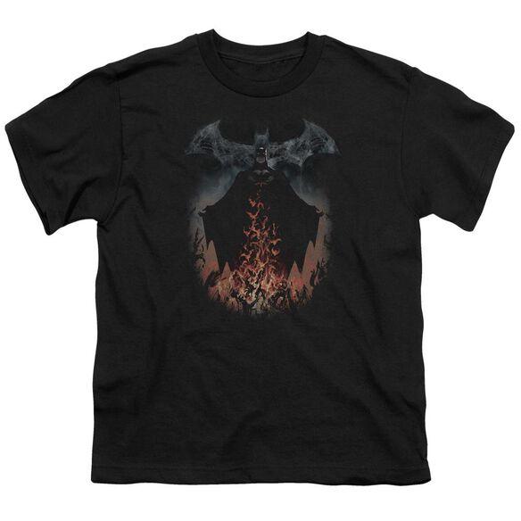 Batman Smoke & Fire Short Sleeve Youth T-Shirt