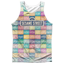 Sesame Street Color Block Adult Poly Tank Top