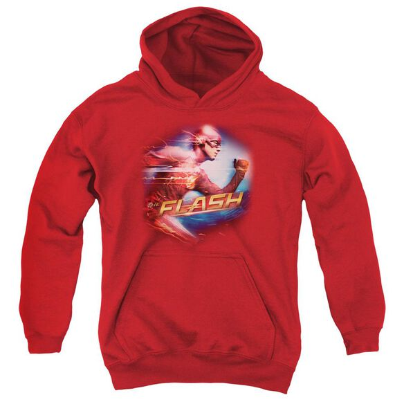 The Flash Fastest Man Youth Pull Over Hoodie