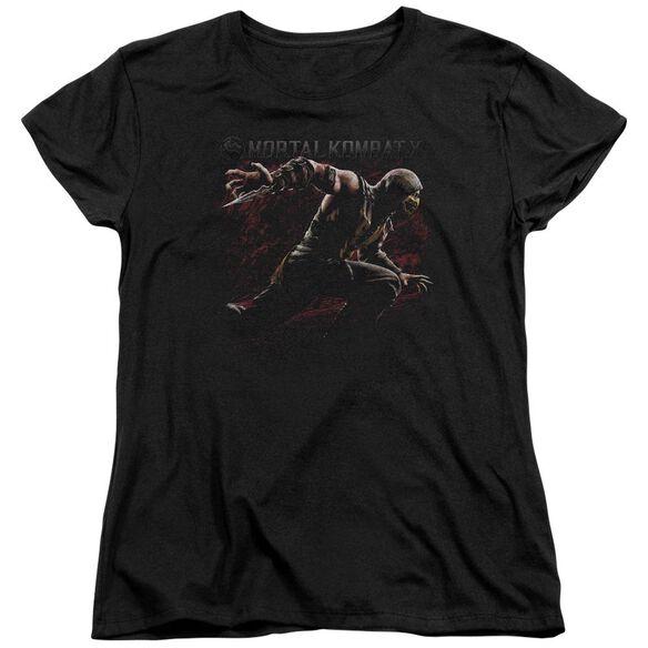 Mortal Kombat Scorpion Lunge Short Sleeve Womens Tee T-Shirt