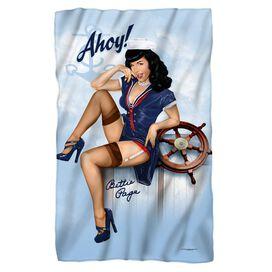 Bettie Page Ahoy Fleece Blanket