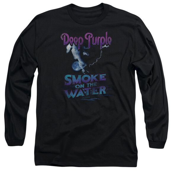 Deep Purple Smokey Water Long Sleeve Adult T-Shirt