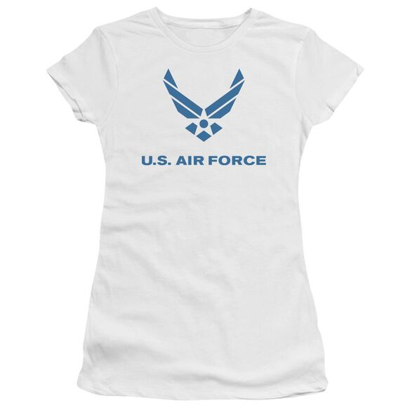 Air Force Distressed Logo Short Sleeve Junior Sheer T-Shirt