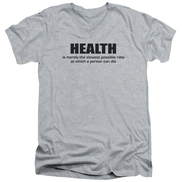Health Short Sleeve Adult V Neck Athletic T-Shirt
