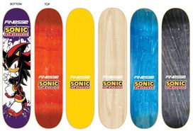 Finesse Skateboards - Sonic the Hedgehog Shadow Purple Skateboard Deck