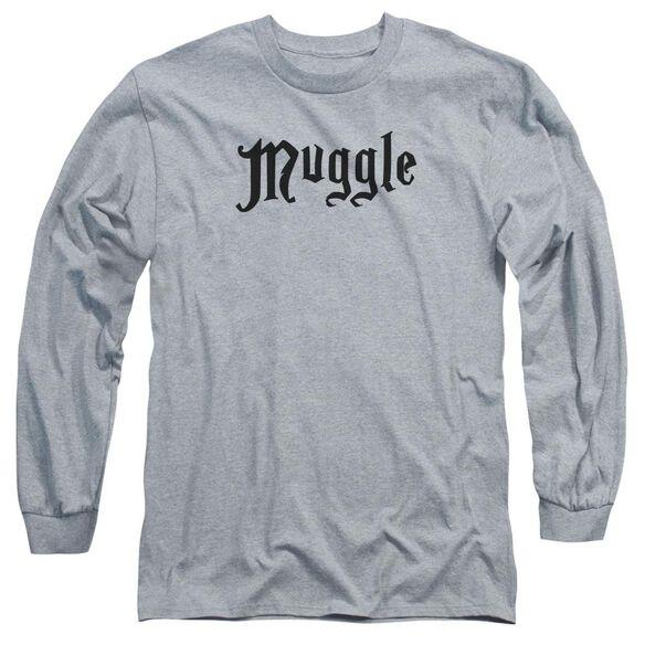 Harry Potter Muggle Long Sleeve Adult Athletic T-Shirt
