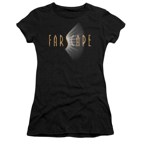 FARSCAPE LOGO - S/S JUNIOR SHEER - BLACK T-Shirt