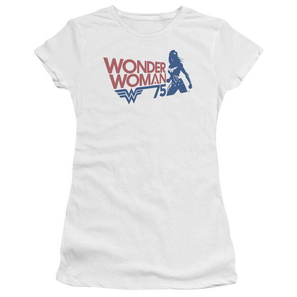 Wonder Woman Ww75 Silhouette Short Sleeve Junior Sheer T-Shirt