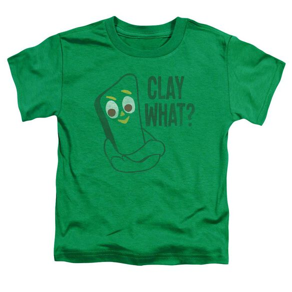 Gumby Clay What Short Sleeve Toddler Tee Kelly Green T-Shirt