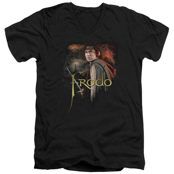 Lor Frodo Short Sleeve Adult V Neck T-Shirt