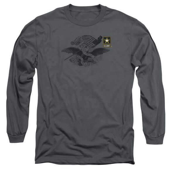Army Left Chest Long Sleeve Adult T-Shirt
