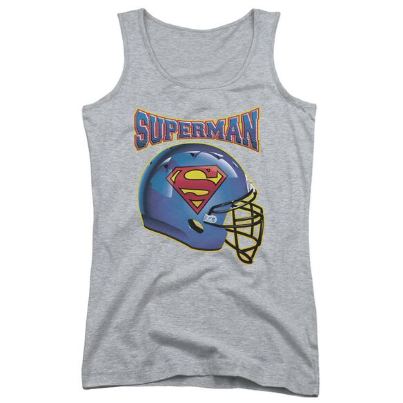 Superman Helmet Juniors Tank Top Athletic